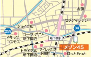 メゾン45周辺地図