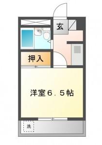 シャトレーヌ豊1K洋室